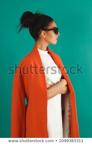 High fashion güzel bir kadın kadın kadın mutlu saç Stok fotoğraf © tobkatrina