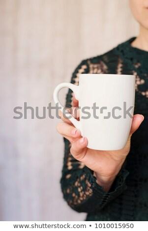 Nő üres kéz termék lány kezek Stock fotó © godfer