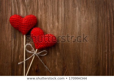 Love valentine heart on rope. Stock photo © Hermione