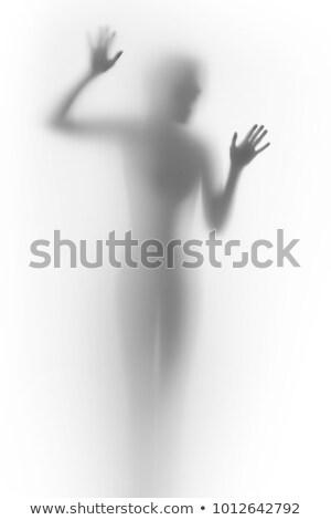 Przerażający ludzi cień gest granitu rock Zdjęcia stock © smithore