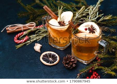 Decoratie hout najaar dessert vers viering Stockfoto © M-studio