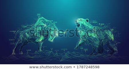 Financiële euro geld vrouwelijke hand Blauw Stockfoto © fantazista