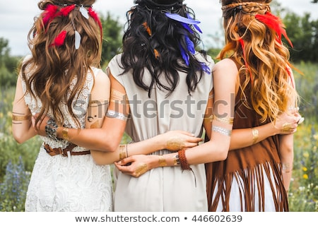 portrait of two beautiful young girls on the nature 3 Stock photo © acidgrey