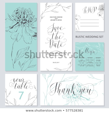 Thank You vector lettering with calligraphic flower. Stock photo © prokhorov