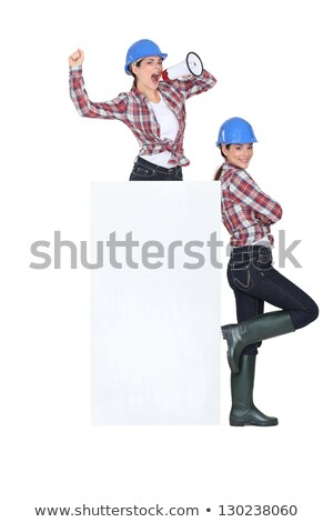 blue collar girl and twin sister Stock photo © photography33