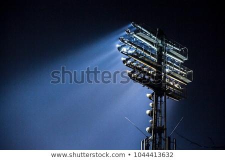 the stadium spot light tower stock photo © nneirda