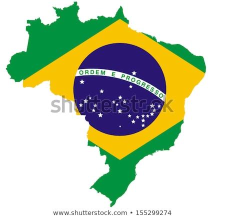 Brazilian map with flag Stock photo © marinini