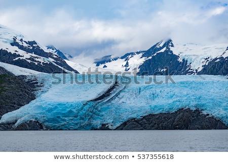 Azul geleira lago Alasca céu natureza Foto stock © billperry