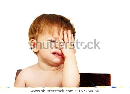 Piccolo ragazzo faccia buffa bianco isolato Foto d'archivio © Elegies