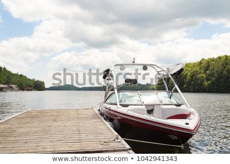 Boat and dock Stock photo © Roka