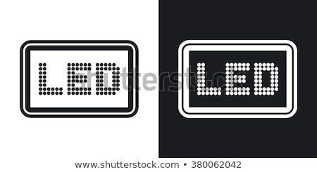 Minimalist style lcd panel. Stock photo © nav