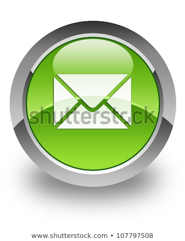 email icon on glossy round button stock photo © fotoscool