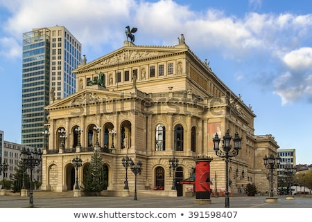 famous Opera house in Frankfurt Stock photo © meinzahn