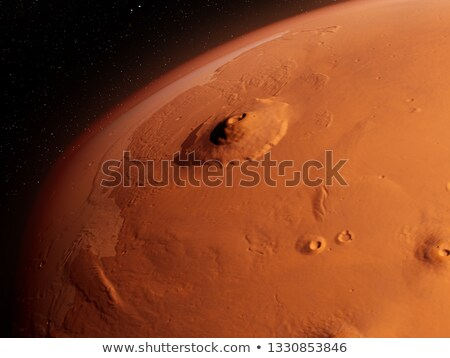 Mons Olympus on Mars planet - 3D render Stock photo © Elenarts