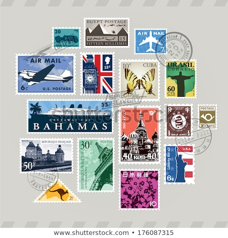 world postage stamp collection background  Stock photo © Snapshot