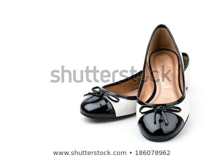 Piękna buty sandały odizolowany biały kwiat Zdjęcia stock © alekleks