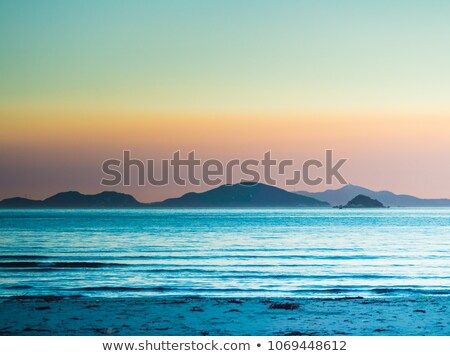 Beach in Hong Kong at day with campsites Stock photo © kawing921