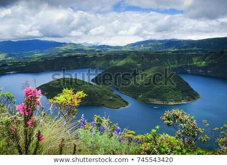 два озеро Эквадор растений вулканический Сток-фото © rhamm