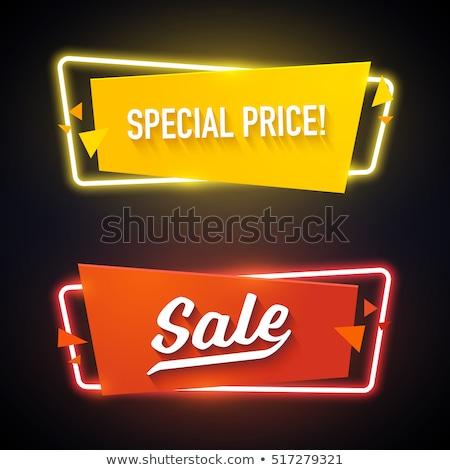 Venta rojo texto en 3d aislado blanco negocios Foto stock © tashatuvango
