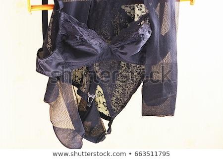 Siyah çorap dantel elastik beyaz kadın Stok fotoğraf © RuslanOmega