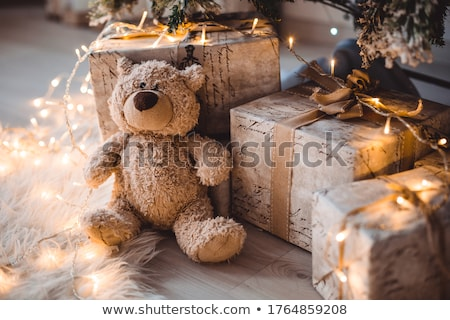 Рождества игрушку несут красный Hat гирлянда Сток-фото © taden