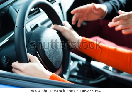 succeeded - Student driver with driving instructor Stock photo © Kzenon