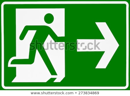 Exit route sign Stock photo © Arrxxx