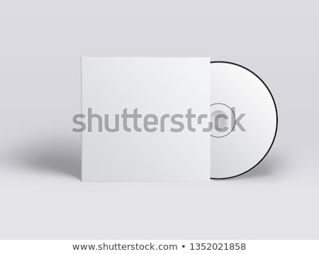 cd · papel · caso · isolado · branco · registro - foto stock © elmiko