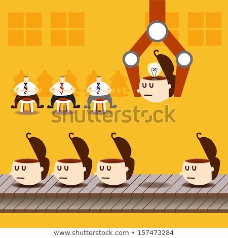 üzletember megállapítás ötlet eps10 vektor formátum Stock fotó © ratch0013