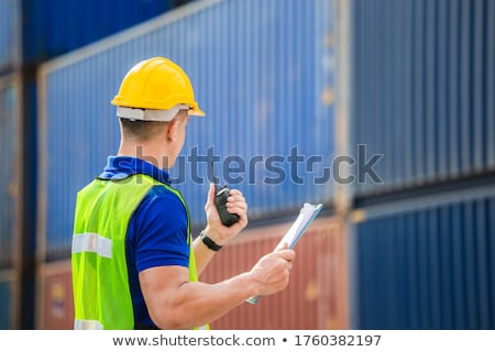 hard hat with clipboard Stock photo © jirkaejc
