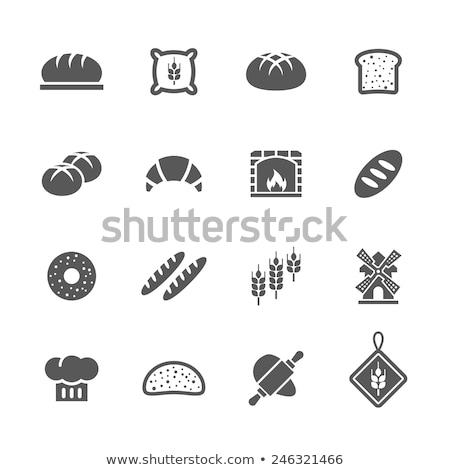 brood · iconen · vector · ingesteld · gestileerde - stockfoto © vectorpro