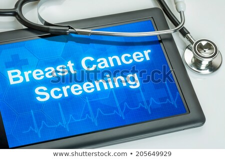 tablet with the diagnosis breast cancer on the display stock photo © zerbor