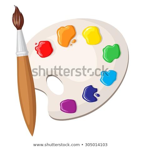 акварель · кистью · карандашом · Хобби · свободное · время · искусства - Сток-фото © designsstock