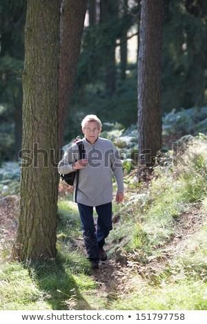 Senior Man On Country Walk Through Woodland Stock photo © monkey_business