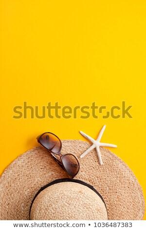 été chapeau plage mer mode vague Photo stock © tannjuska
