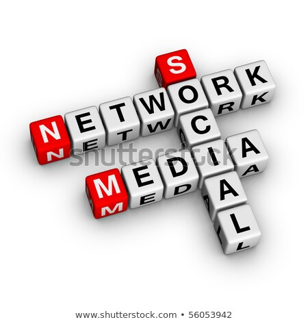 Social Media News on Red Puzzle. Stock photo © tashatuvango