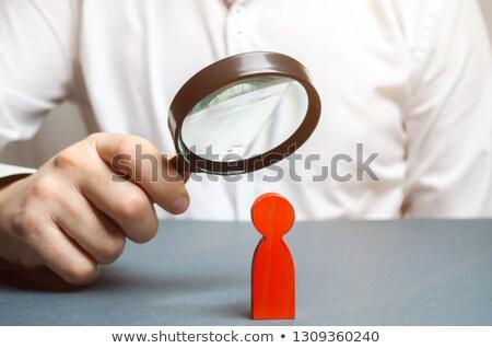 vergrootglas · icon · profiel · hoofd · sleutelgat · oud · papier - stockfoto © tashatuvango