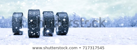 Neve pneu 3D gerado quadro inverno Foto stock © flipfine