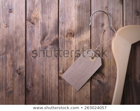 Wooden Coat Hanger With Sale Tag Stock photo © Istanbul2009