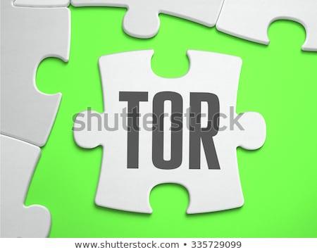 TOR on Green Puzzle. Stock photo © tashatuvango