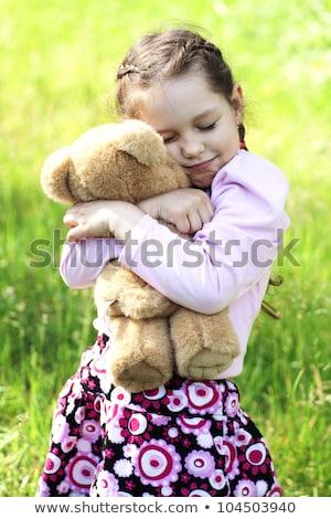 oyuncak · ayı · kırmızı · kalpler · fotoğraf · kahverengi - stok fotoğraf © dashapetrenko