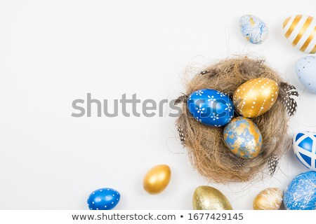 happy easter isolated on white Stock photo © compuinfoto