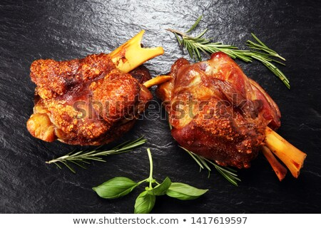 pork shank on a plate with spices  Stock photo © OleksandrO