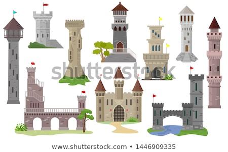 kasteel · namiddag · bakstenen · middeleeuwse - stockfoto © ultrapro