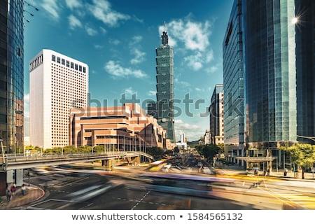 Tayvan · şehir · şehir · merkezinde · ufuk · çizgisi · gökyüzü - stok fotoğraf © elwynn