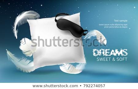 white pillow to sleep vector illustration Stock photo © konturvid