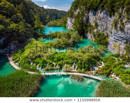 aerial view in plitvice national park stock photo © fesus