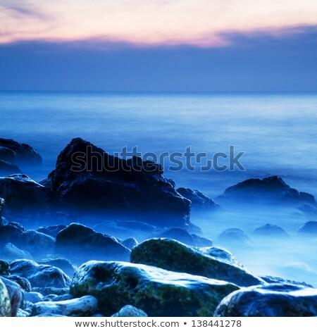 misty · eau · coucher · du · soleil · marin · nature · fond - photo stock © all32