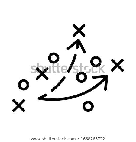 Foto stock: Estrategia · juego · rojo · pensando · jugando · cuatro
