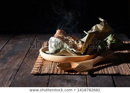 伝統的な 中国語 皿 コメ ワイン 背景 ストックフォト © vlaru